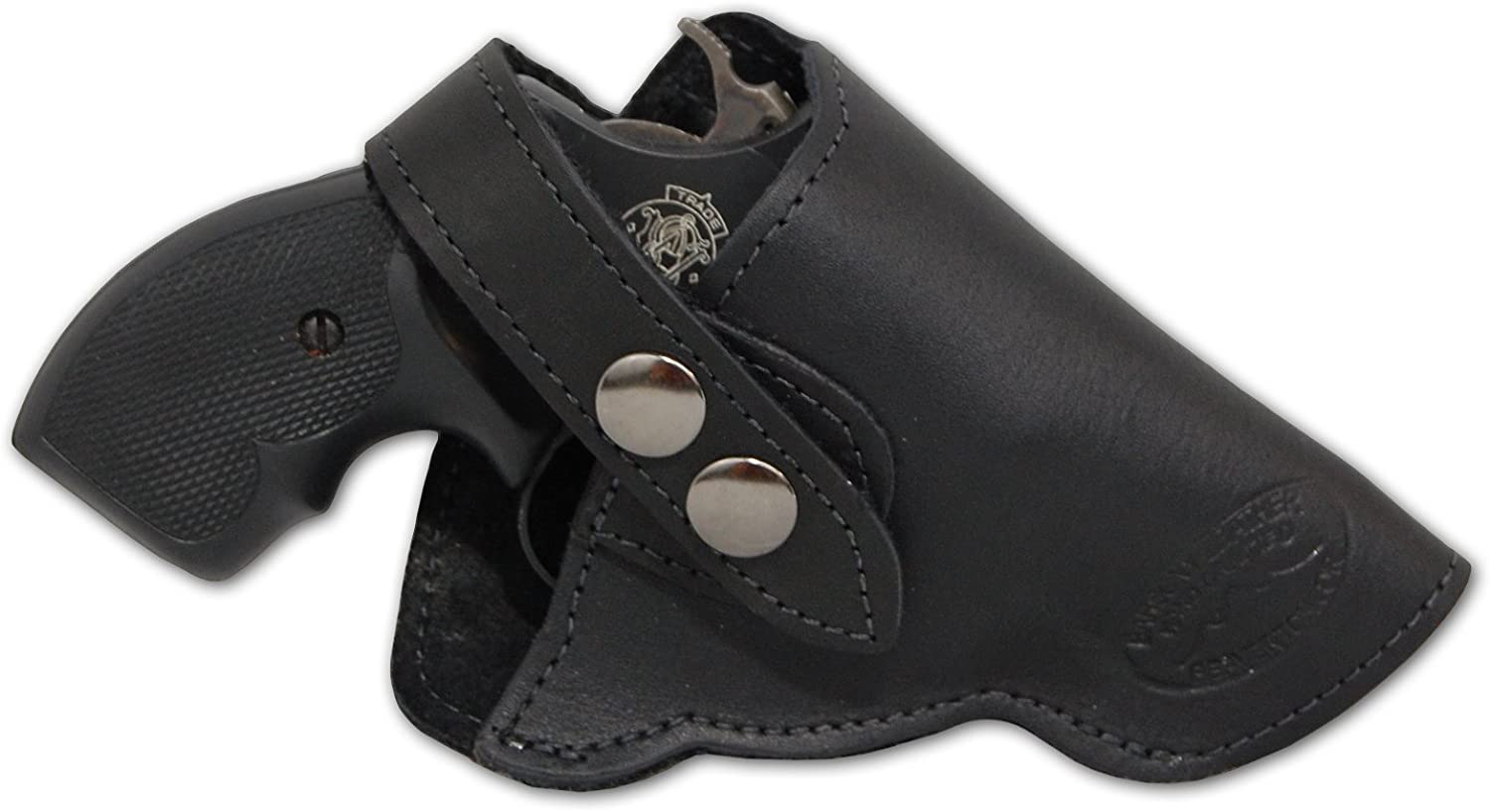 Barsony New Black Leather OWB Holster Surprise price for 2