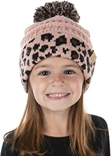 Exclusives Beanie Child Toddler Warm Winter Kids Skull Cap Pom Hat