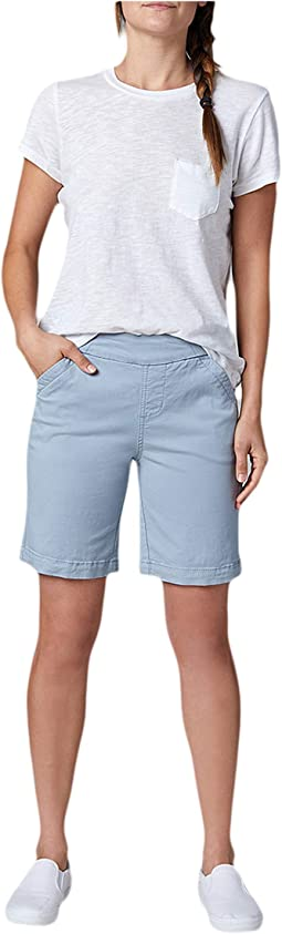 """8"""" Gracie Pull-On Shorts in Twill"""