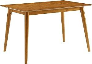 Crosley Furniture Landon Mid-Century Modern Wood Dining Table, Rectangle, Acorn
