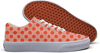 Color Red Strips Checkered Cool Pattern Men Canvas Low Top Slip On Tenis Shoes