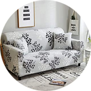 24colors Slipcover Stretch Four Season Sofa Covers Furniture Protector Polyester Loveseat Couch Cover Sofa Towel 1/2/3/4-seater,Color 3,3 Seater