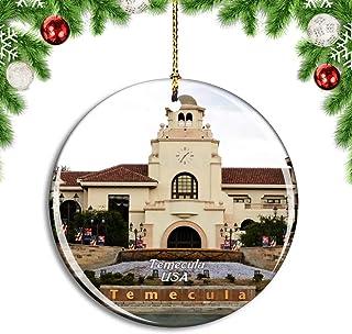 Weekino USA America Temecula Old Town Christmas Xmas Tree Ornament Decoration Hanging Pendant Decor City Travel Souvenir C...