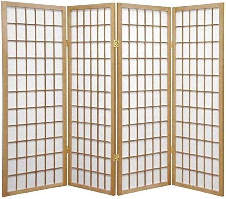 Oriental Furniture 4 ft. Tall Window Natural Screen Shoji New mail order Pane Rapid rise -