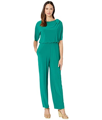 Vince Camuto Ity Jumpsuit w/ Bow at Shoulder (Green) Women