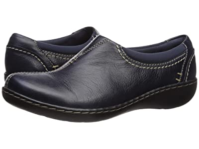 Clarks Ashland Joy (Navy Leather) Women