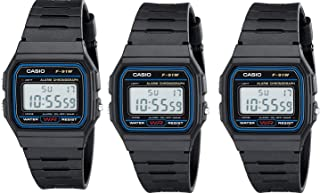 #F91W-1 Men's Special Package Deal (3 Classic Chronograph Alarm Watches)