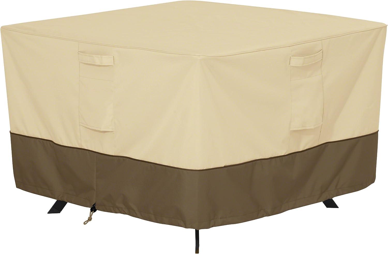 Classic Accessories Veranda Water-Resistant 60 Inch Square Patio Table Cover : Patio, Lawn & Garden