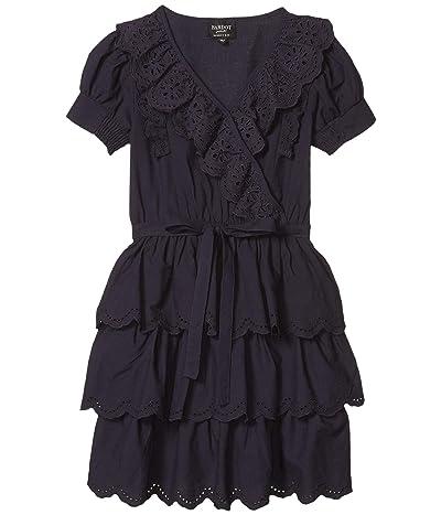 Bardot Junior Cindy Broderie Dress (Big Kids) (Navy) Girl