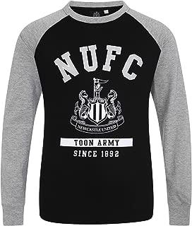 Newcastle United FC Official Soccer Gift Kids Crest Long Sleeve Raglan T-Shirt