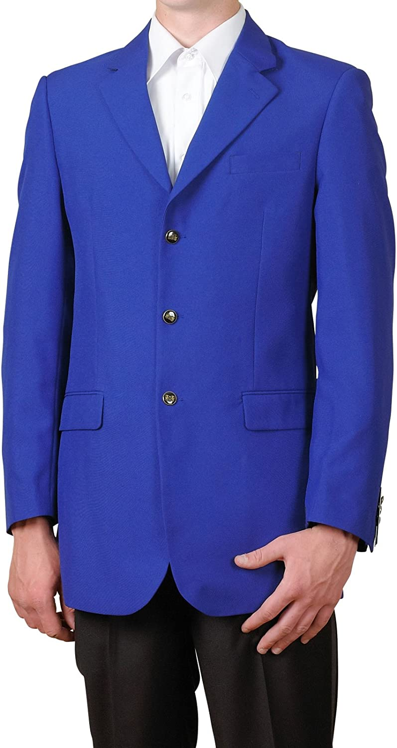 New Mens 3 Button Single Breasted Royal Blue Blazer Sportcoat Suit Jacket