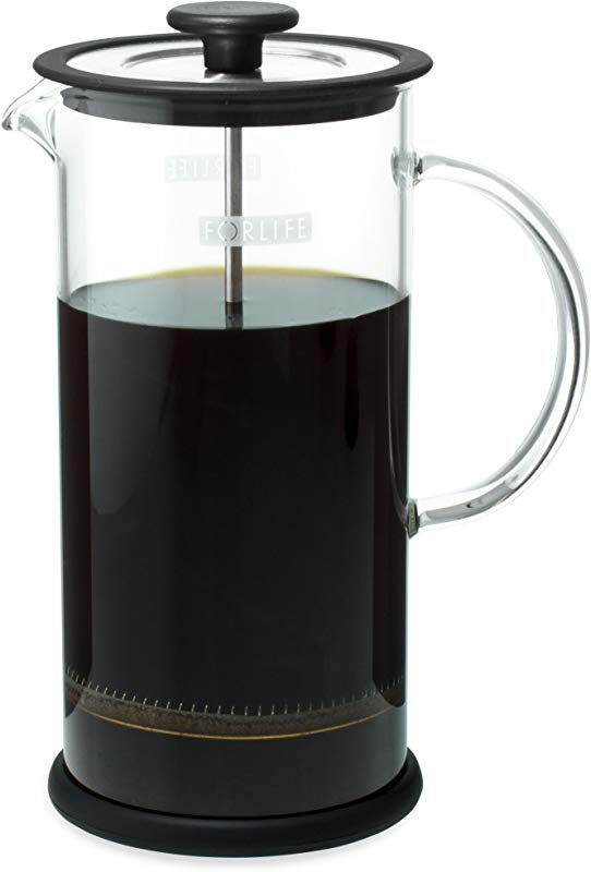 Forlife Cafe Style Glass Coffee Tea Press 32 Ounce Black
