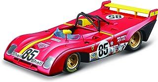 Bburago B18-36302 312P 1:43 Ferrari Racing 312 P 1972, Red #85