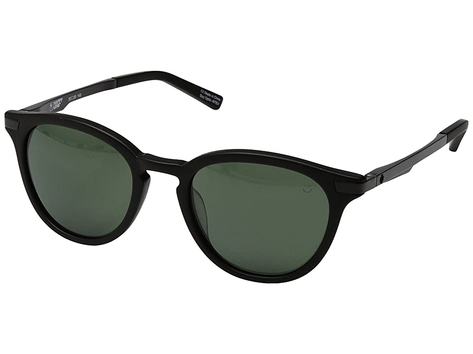 Spy Optic Pismo (Matte Black/Happy Gray Green) Sport Sunglasses