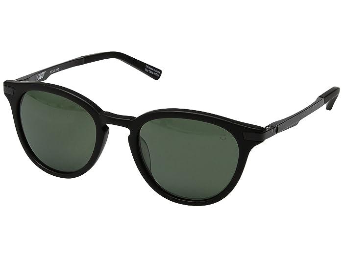 Spy Optic Pismo (Matte Black/Happy Gray Green) Sport Sunglasses