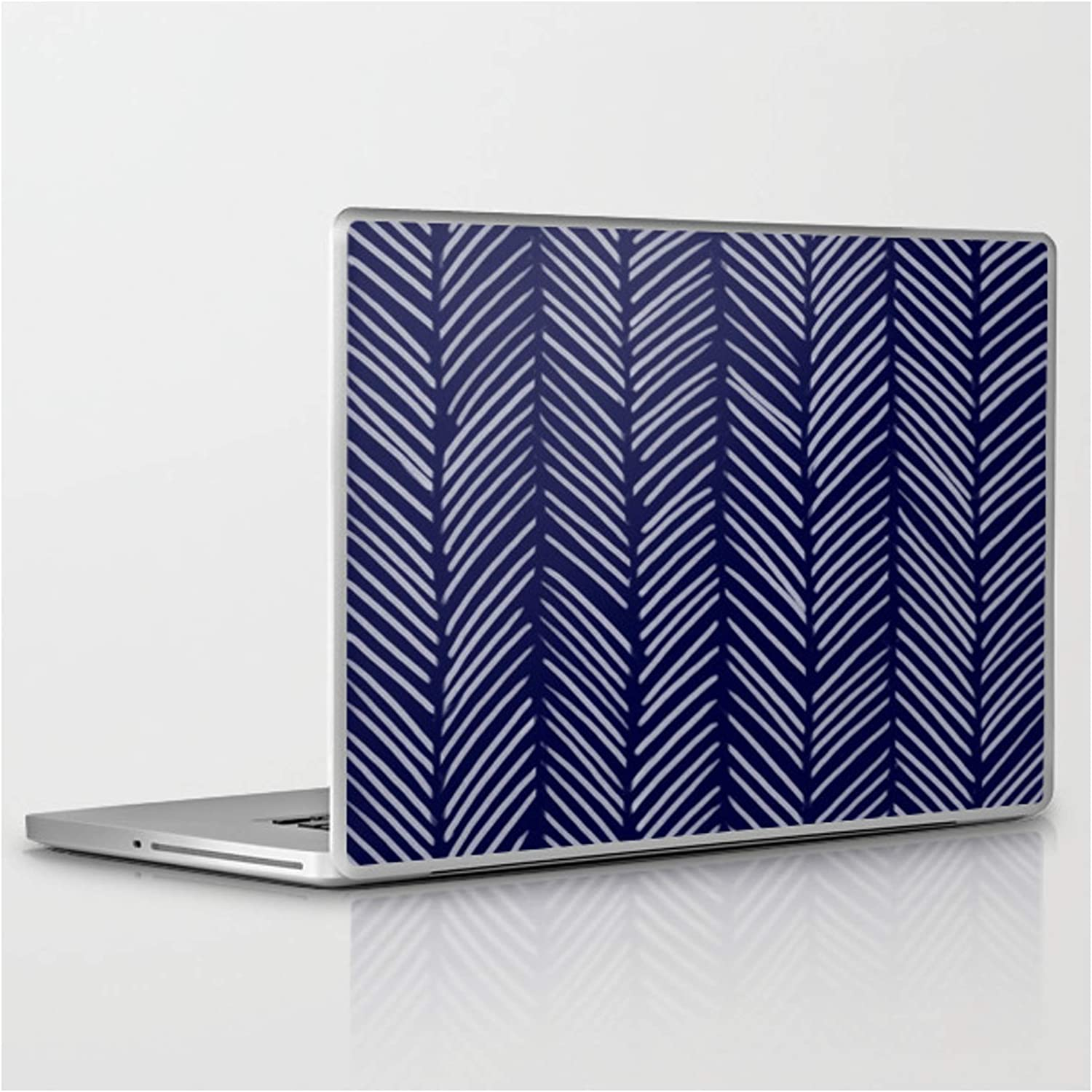 Indigo Herringbone by Color Fixed price for sale Cheap mail order shopping Obsession Tablet Skin on - Laptop