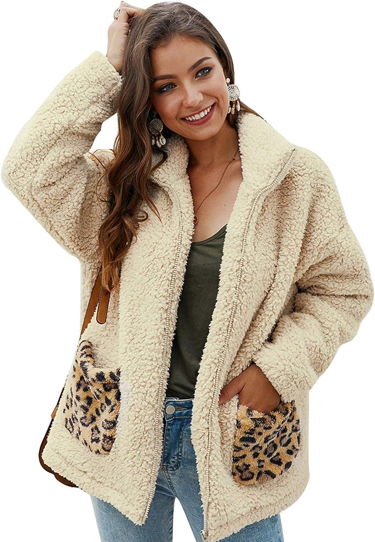 New sales 2021 model Shilanmei Women's Casual Lapel Faux Fur Shaggy Coats Over Zipper