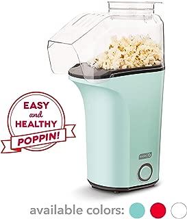 Dash DAPP150V2AQ04 Hot Air Popcorn Popper Maker with Measuring Cup to Portion Popping Corn Kernels + Melt Butter, Makes 16C, Aqua