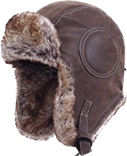 BF-CAP BigForest M/ütze Russian Damen Herren Winter Aviator Trapper Hat with Fur Lining Ear Flaps Ushanka Hat