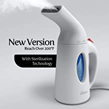 iSteam Steamer for Clothes [Home Steam Cleaner] Powerful Travel Steamer 7-in-1. Handheld..