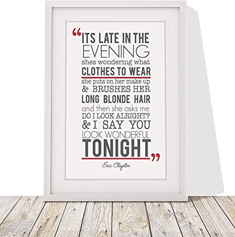Lyrics wonderful tonight you look Michael Buble