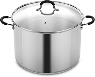 Cook N Home NC-00335 20 Stainless Steel Saucepot with Lid Quart Stockpot, QT, Silver