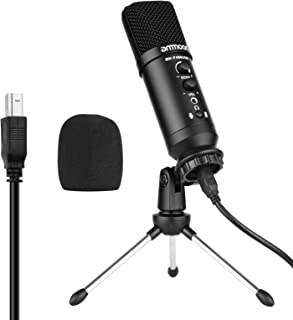 USB Condenser Microphone Computer Mic Kit with Mini Desktop Metal Tripod Stand Windscreen USB Cable for Music Recording Li...