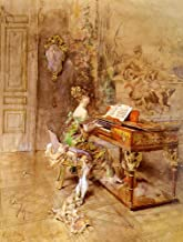 $50-$2000 Hand Painted by College Teachers - 9 Famous Paintings - Woman Playing Piano Giovanni Boldini Impressionist - Art Oil Painting on Canvas -Size07
