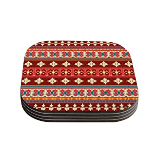 Kess InHouse Nandita Singh Marsala /& Mustard Red Pattern Bed Runner