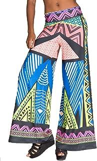 geometric print palazzo pants