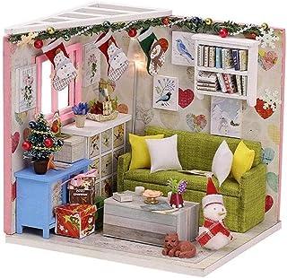 XYZMDJ Romantisk och söt dockhus miniatyr gör-det-själv hus kit kreativt rum gör-det-själv present till vänner, älskare