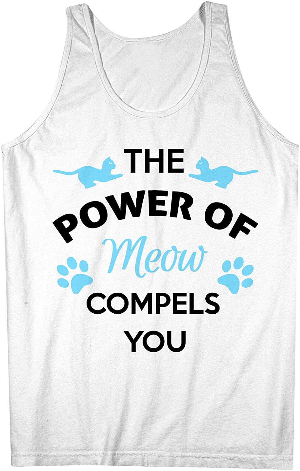 The Power Of Meow Compels You おかしいです Cat 男性用 Tank Top Sleeveless Shirt