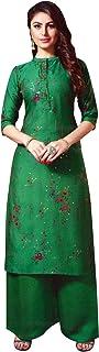 ladyline Rayon Silk Handwork Kurtis for Women with Palazzo Pants Set Kurta Indian Tunic Top Dress