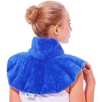 Huggaroo - Cuscinetto riscaldante per collo e spalle, utilizzabile come impacco termico o impacco freddo per dolori al collo, dolori alle spalle, emicrania