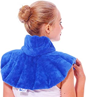 Huggaroo Microwavable Neck Wrap - Moist Heating Pad and Cold Compress - Use Hot or Cold for Neck Pain Relief, Muscle Relaxation, Migraine Relief