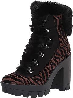 Jessica Simpson Women's Mikah Fashion Boot, بني/أسود, 6. 5