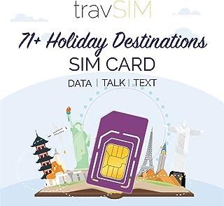 travSIM 71+ Vakantiebestemmingen SIM Kaart (Three UK SIM) Geldig voor 30 Dagen - 6GB Mobiele Data - Australië Frankrijk Br...