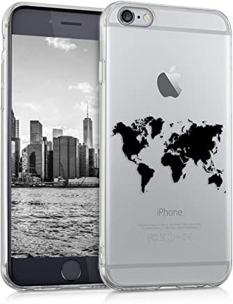 kwmobile Coque pour Apple iPhone 6 / 6S – En silicone TPU coque protectrice pour portables – Étui translucide en noir transparent