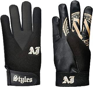 WWE AJ Styles Black/Gold Replica Gloves