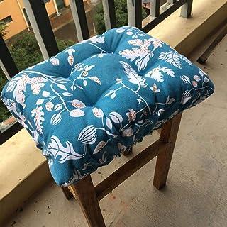 BoruisX Funda de asiento rectangular elástica, para silla rectangular, cojín de asiento de silla rectangular, cojín de banco bajo, cojín grueso (30 x 40 cm), color blanco