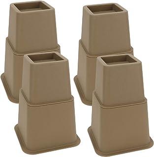 RONRI 高さ調整 継ぎ脚 高さ調節が簡単にできる 高さ調脚 高さを上げる テーブル・ ベッドの高さ調節 テーブル脚台 高さ調整 暖房器具 8個セット 茶色 大と小