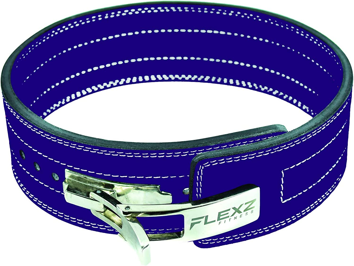 Flexz Fitness Powerlifting and Weightlifting Belt with Lever Buckle, 10mm