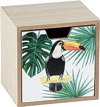 WENKO Pudełko z szufladami Tucan, pudełko do przechowywania z szufladą, MDF, 12 x 10 x 12 cm, wielokolorowe