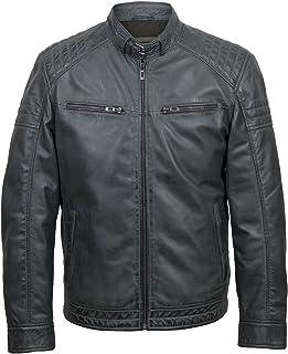 HIDEPARK Budd: Men's Grey Leather Jacket