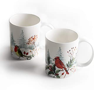 Maison d' Hermine Morzine Pack Of Two Coffee Mugs 12 Ounce