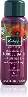 Kneipp Red Poppy and Hemp Bubble Bath, 13.52 fl oz