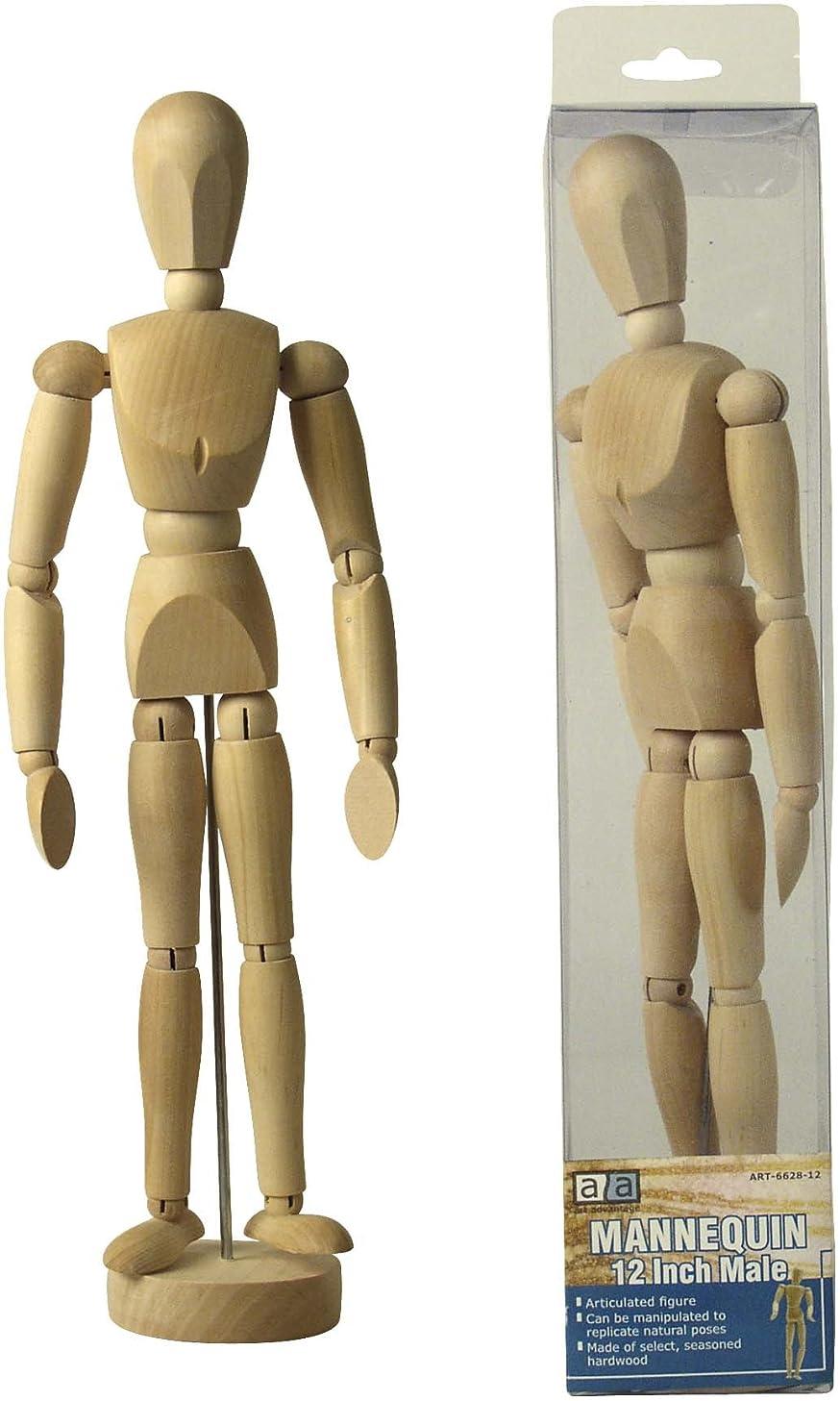 Art Advantage 12-Inch Male Mannequin