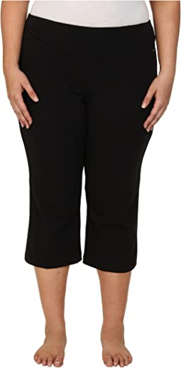 Jockey Active Plus Size Slim Capri Flare