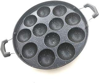 Non-Stick Aliminium Appam Patra 12 (Pits) Cavity paniyarakal with 2 Side Handle and Stainless Steel lid Paniyaram Appam Pa...