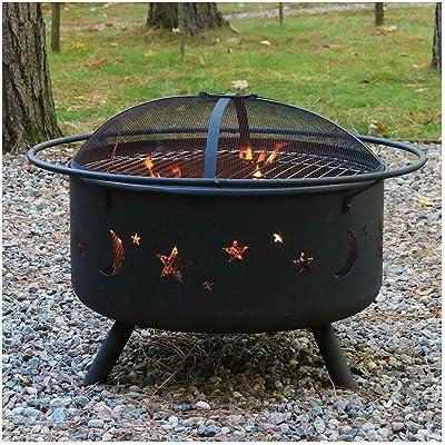 Amazon Com Sunnydaze 40 Inch Four Star Large Fire Pit